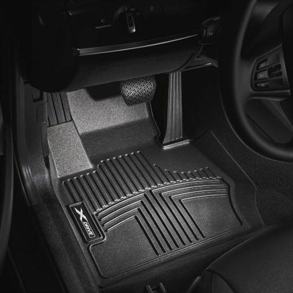 Rubber floor mats bmw 3 series - Bmw 328 335 3 Layer Thermoplastic Front Black Floor Liners 82112210412 Ebay