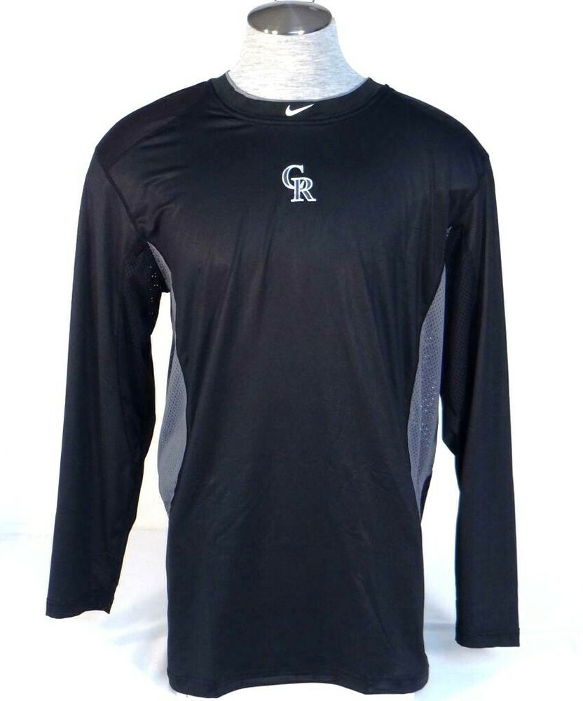 Nike Pro Combat Dri Fit Colorado Rockies Fitted Long