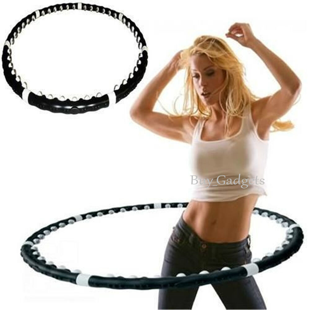 Fitness, Running & Yoga Hula Hoop Professional Weighted Magnetic Fitness Exercise Massager Workout Abs