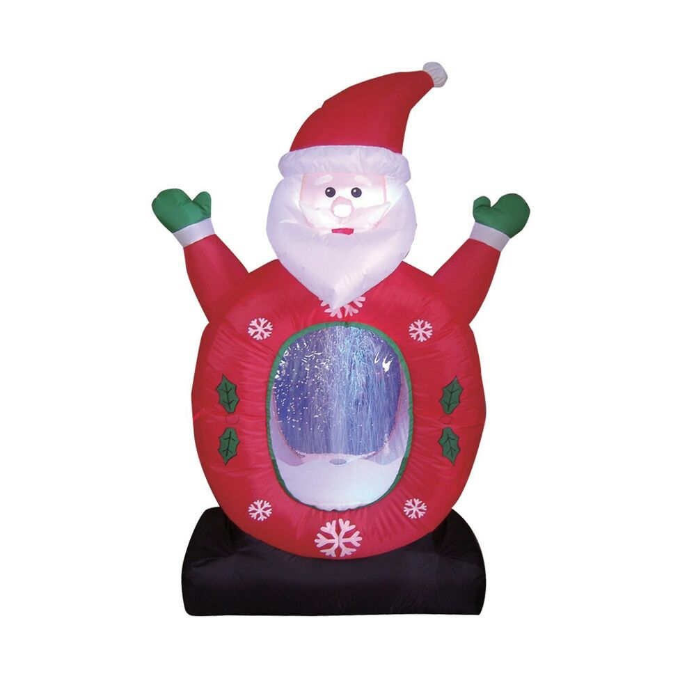 Christmas inflatable santa claus snowflake snow globe led