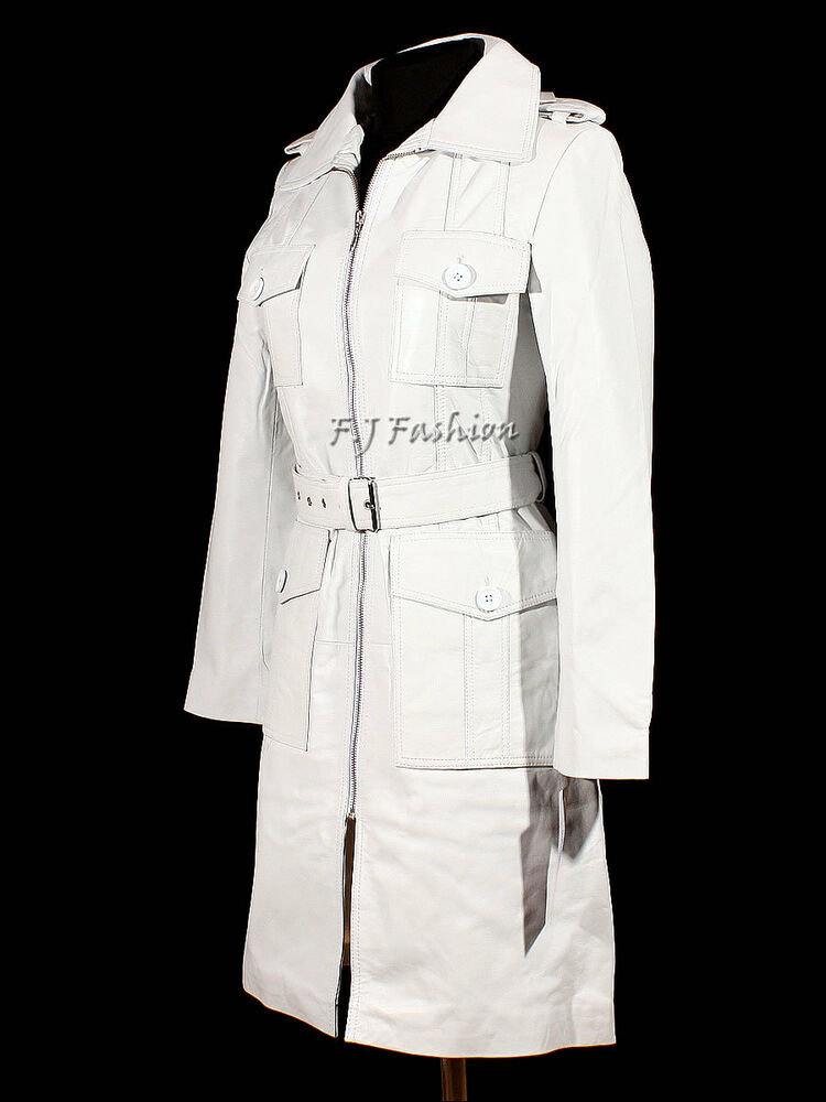 White trench coats for women
