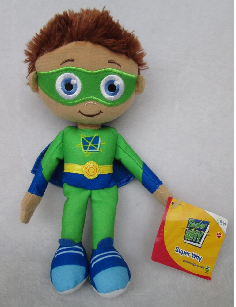 Boys Plush Toys : Quot new rare learning curve pbs show super why whyatt wyatt