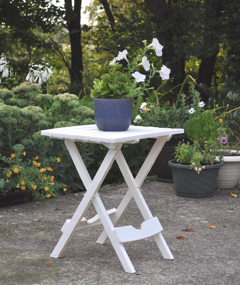 side table patio chair quick folding white adirondack chaise lounges stool pool ebay. Black Bedroom Furniture Sets. Home Design Ideas