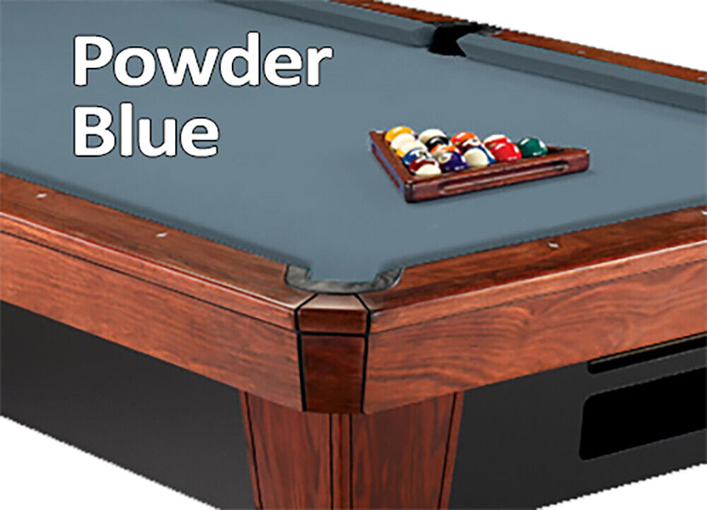 8 39 oversized simonis 860 powder blue billiard pool table - Pool table green felt ...