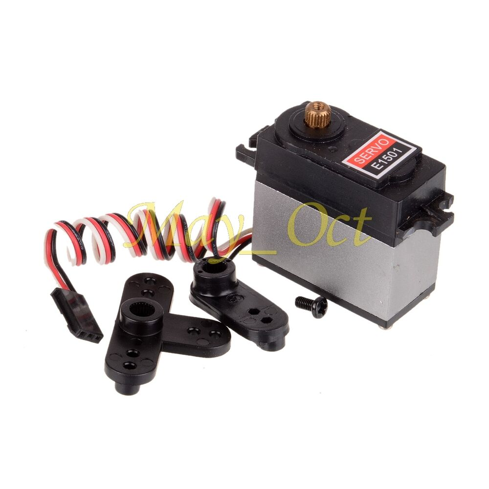 15kg rc car metal geared servo steering arms e1501 for hsp for Rc car servo motor