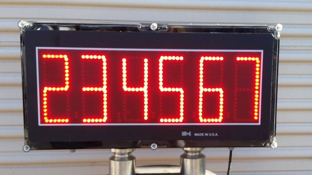 6 Quot Led Digits Remote Display Score Board Attach To