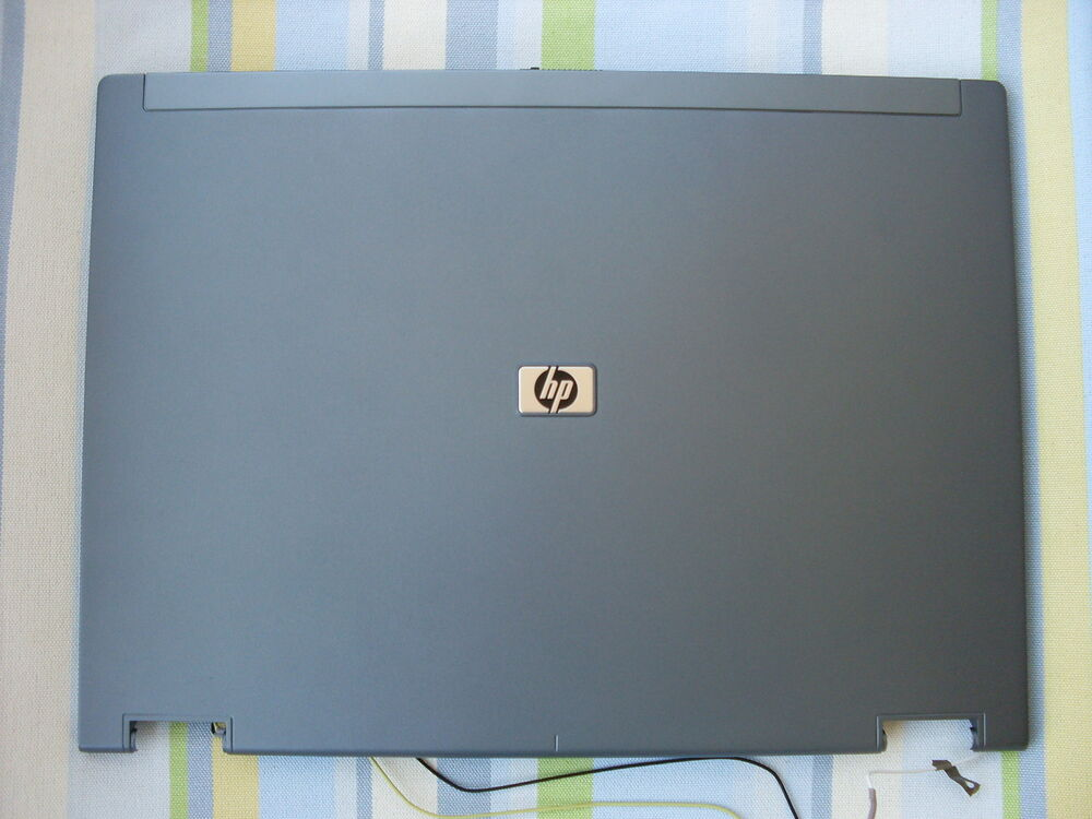 hp compaq 8510p 8510w display deckel cover wie neu ohne kratzer ebay. Black Bedroom Furniture Sets. Home Design Ideas