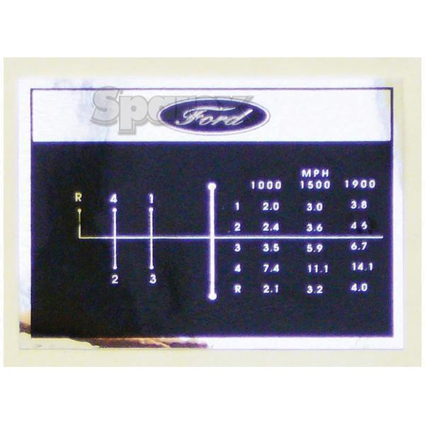 Ford 2000 Tractor Decals : Ford tractor shift pattern decal speed ebay