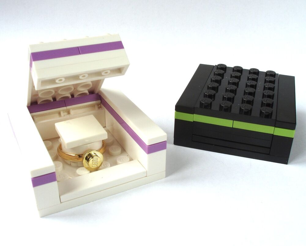Wedding Ring Gift Box : Ring Gift Box, made from LEGO brcks engagement wedding bride proposal ...
