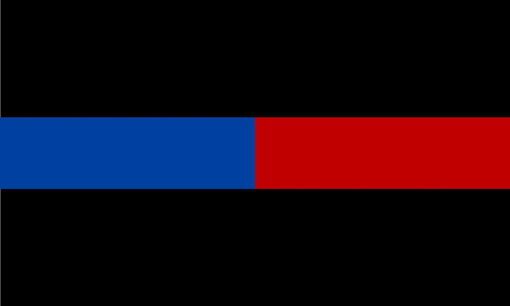 Thin Blue Line Half Blue Half Red Exterior REFLECTIVE ...