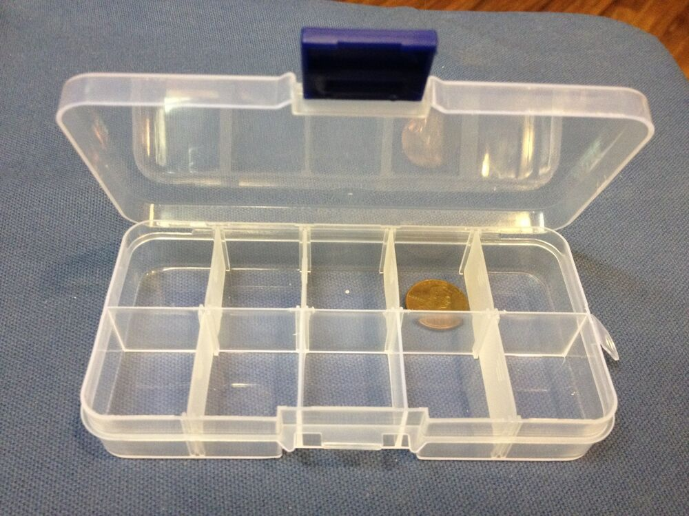 1x clear plastic case wholesale container nail art box tips storage compartment ebay. Black Bedroom Furniture Sets. Home Design Ideas