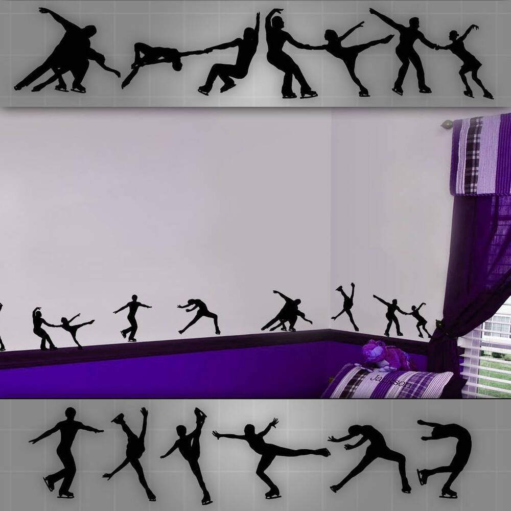 Figure Skating Stickers Figure Skating Wall Decals Girls