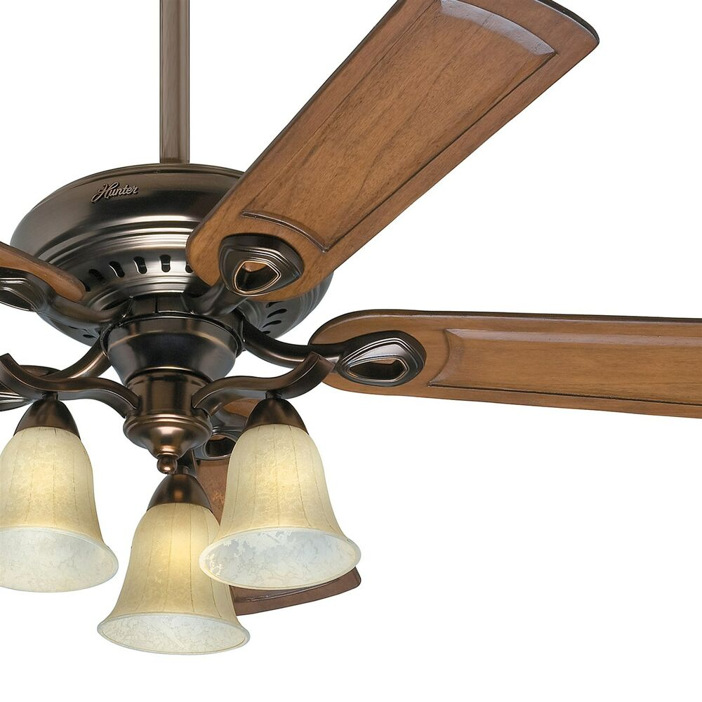 52 hunter ceiling fan bronze patina finish 3 light - Pictures of ceiling fans ...