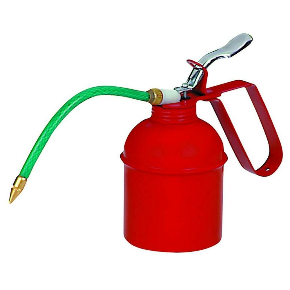 New 20 Oz Flexible Spout Oil Can Pistol Flexible Hose Oil