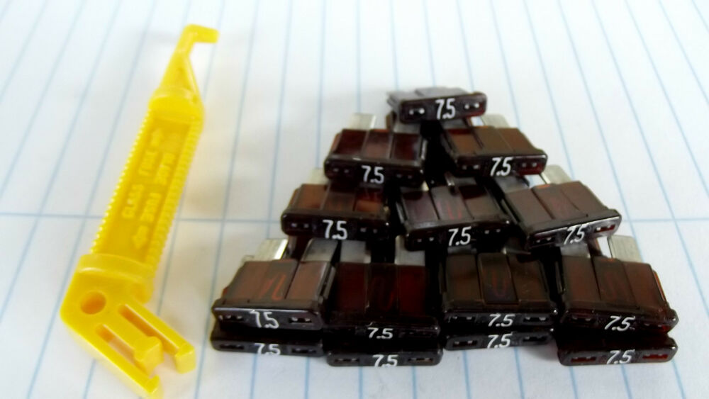 20 Atc  Ato 7 5 Amp Buss Fuses  1 Long Fuse Puller  Made In Usa