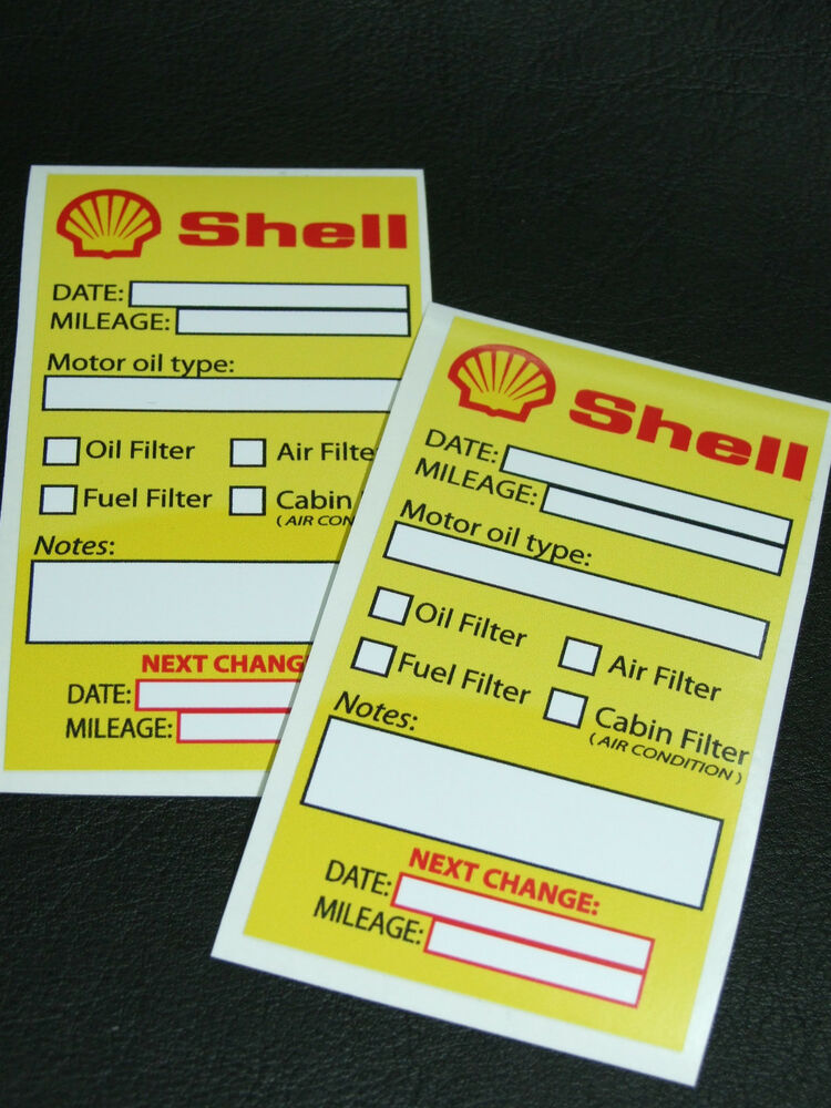 oil change stickers free