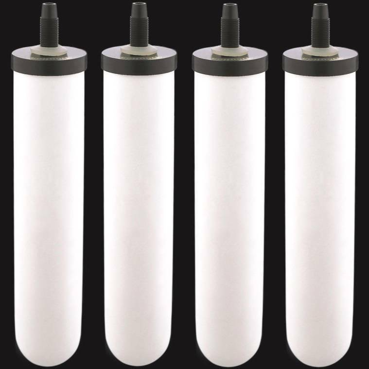 4 Ceramic Gravity Replacement Water Filters Sterasyl 9