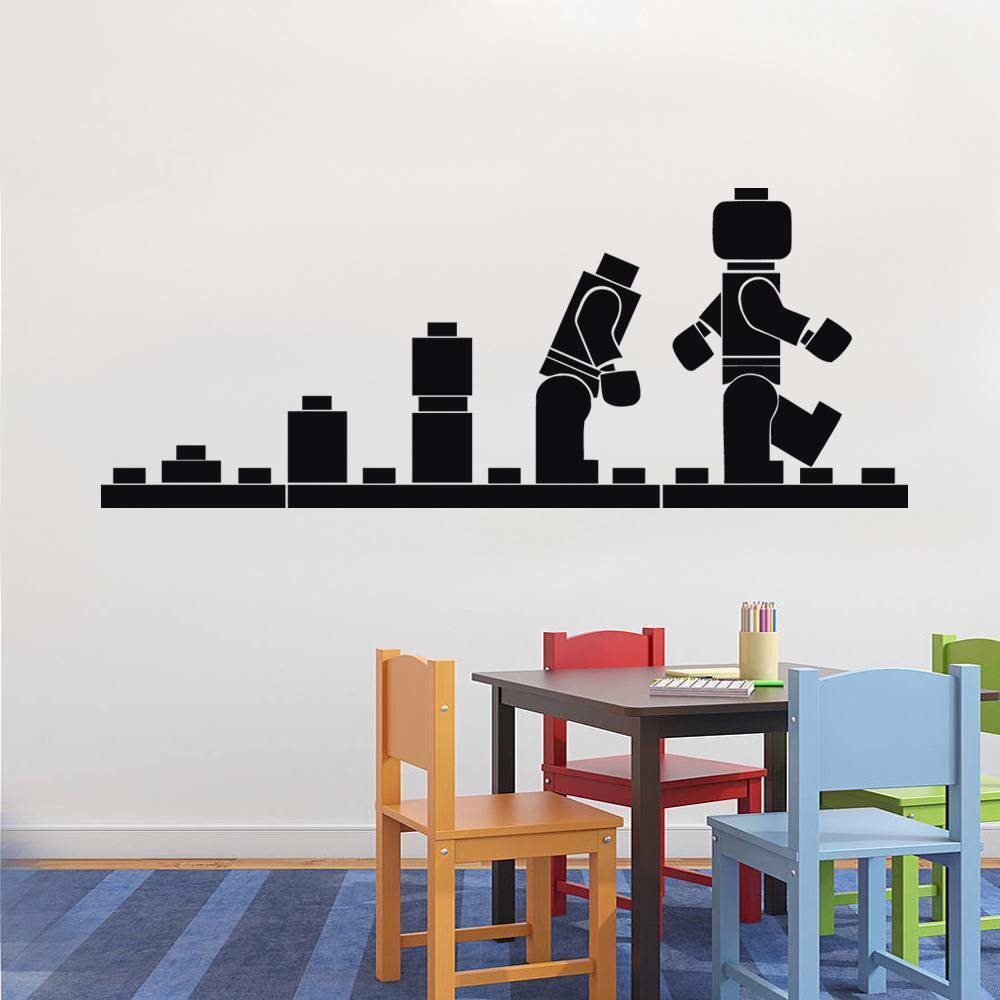 Lego evolution decal wall sticker home decor art vinyl for Home decor 86th street