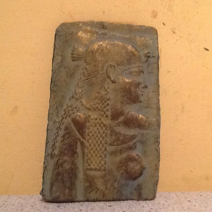 Vintage egyptian art relief stone carved wall plaque ebay