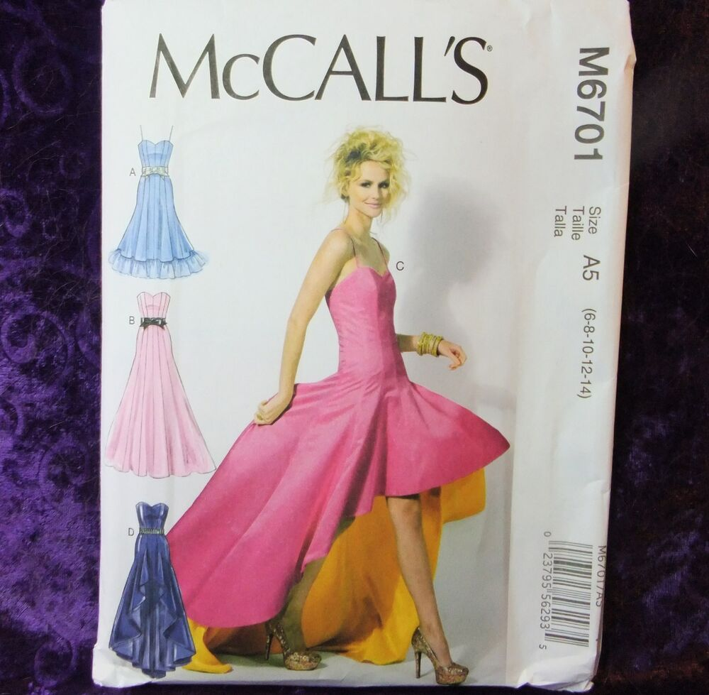 McCall's M6701 Sewing Pattern 6701 Misses' Formal Dress