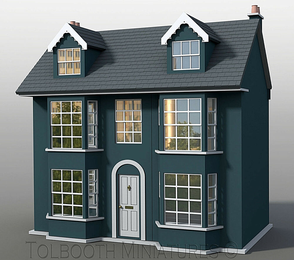 Grove house dolls house 1 12 scale unpainted dolls house for Grove house