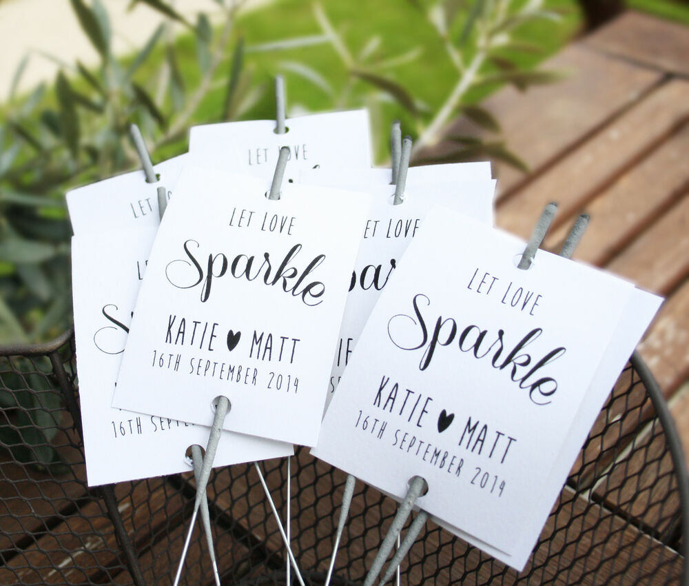 10 X Sparkler Covers / Ideal Wedding Favours