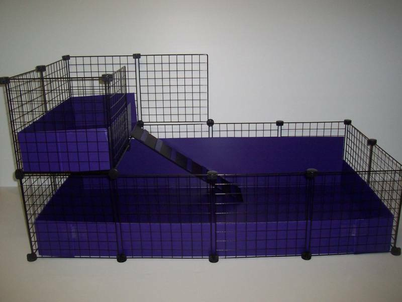 New large 56 x 28 guinea pig cage with 2nd level ebay for Large indoor guinea pig cages