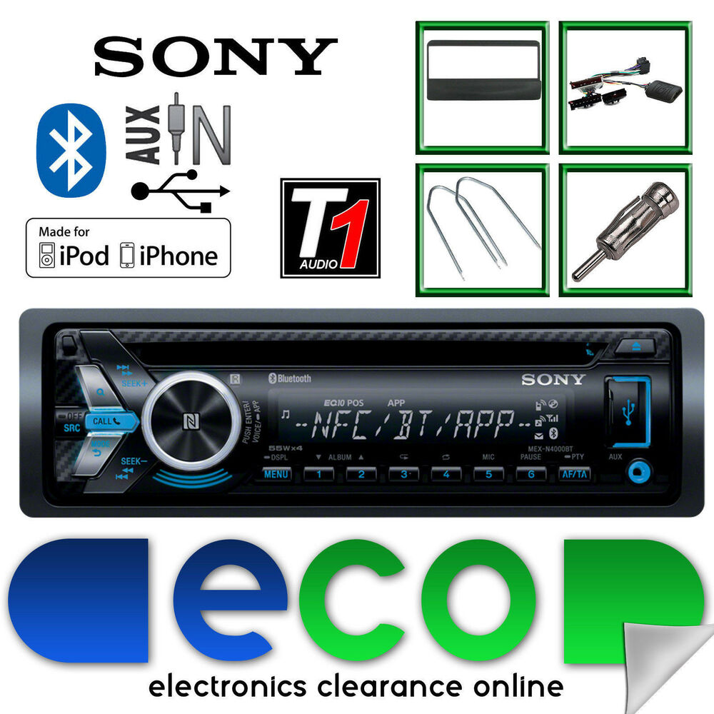 Ford Fiesta Sony Car Stereo Radio Cd Mp3 Usb Bluetooth Steering Mex N5100bt Wiring Harness Wheel Control Ebay