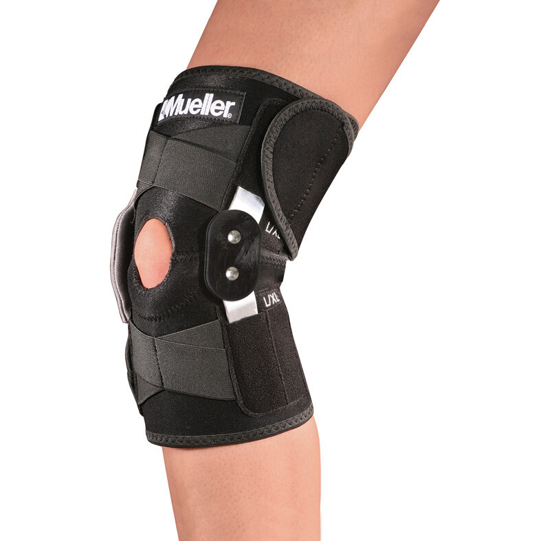 Hinged Knee Brace : Mueller adjustable hinged knee brace ebay