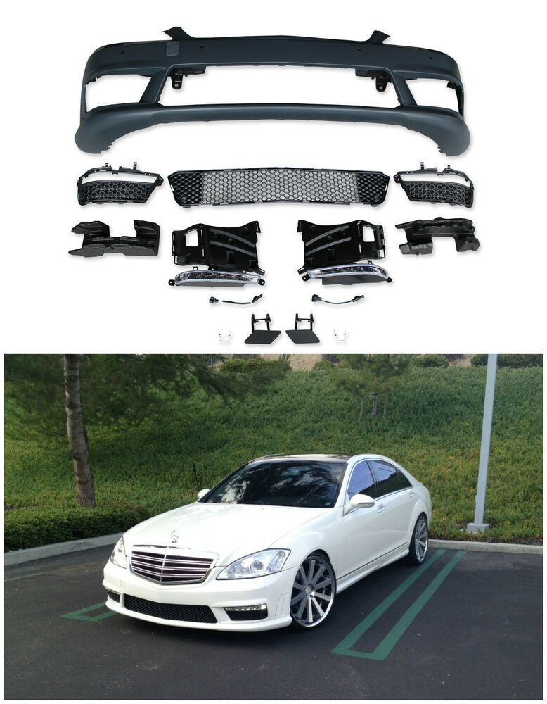 mercedes benz s63 amg facelift front bumper for 2007 2012 w221 s class with pdc ebay. Black Bedroom Furniture Sets. Home Design Ideas