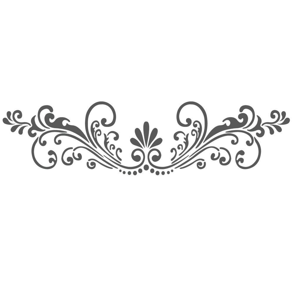 Stencil Design Wall Decor : Wall stencils border stencil pattern reusable template for