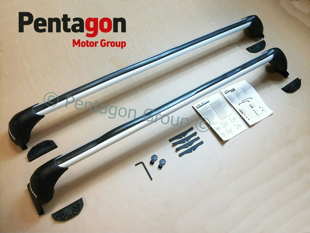 new genuine nissan qashqai 2014 aluminium roof bars rack. Black Bedroom Furniture Sets. Home Design Ideas