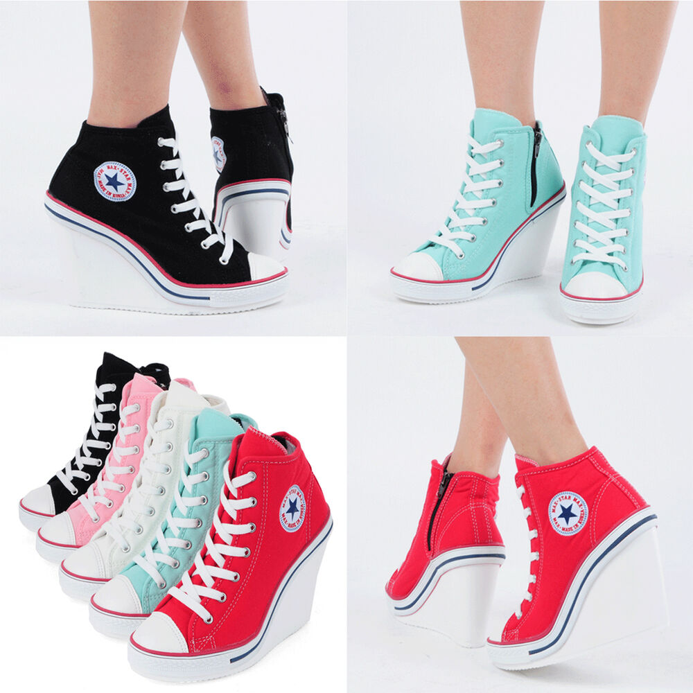 flats heels wedge platform trainers high sneakers boots