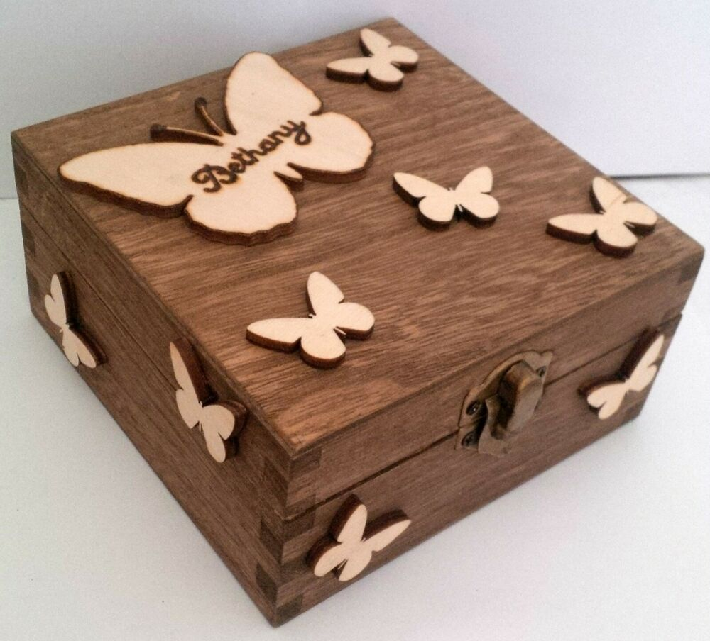 Personalised Wedding Gift Boxes Uk : ... Jewellery Keepsake Box Bridesmaid Flower Girl Wedding Gift eBay