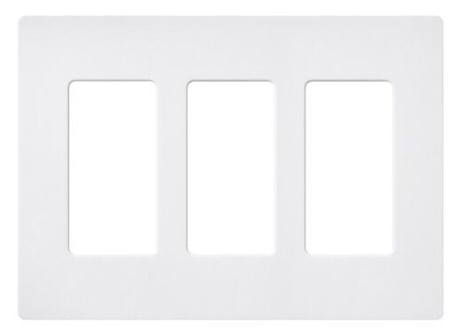 New 3 Gang Screwless Wall Plate Decorator Gfci White Three