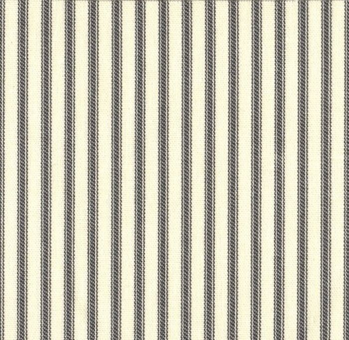 French Country Ticking Stripe Brindle Gray Queen Duvet