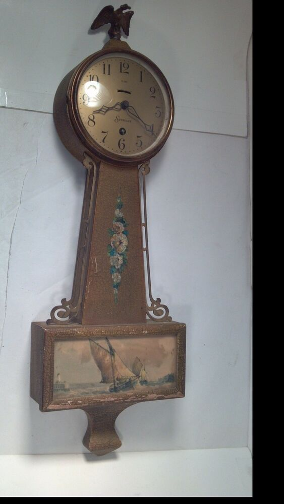 Antique Sessions Hyannis 8 Day Lever Time Banjo Style Wall