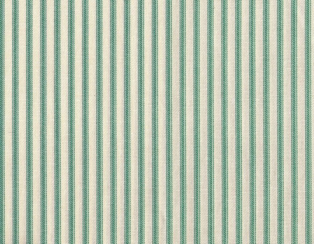 French Country Ticking Stripe Pool Blue Green Twin Duvet