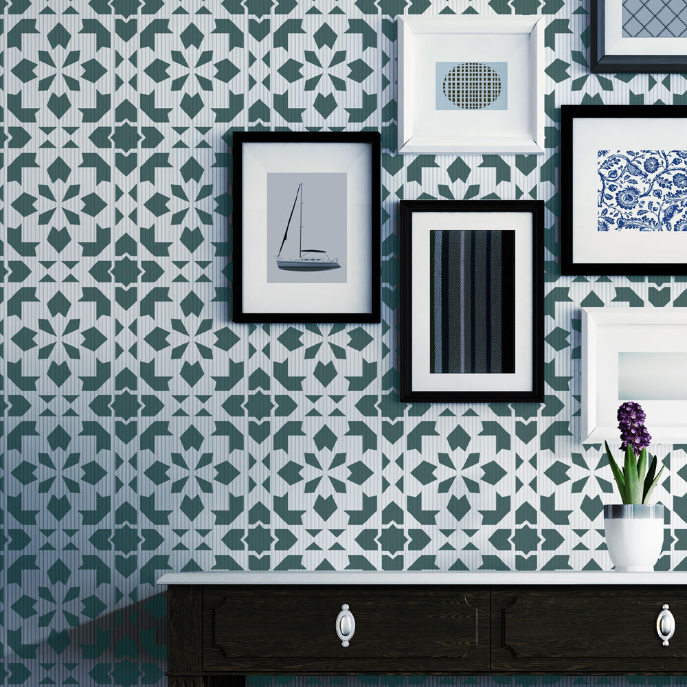 moroccan wall stencil adorlee allover stencil for wall or. Black Bedroom Furniture Sets. Home Design Ideas