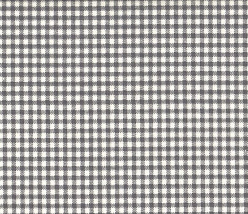 "72"" French Country Gingham Check Brindle Gray Fabric Shower Curtain Cotton"