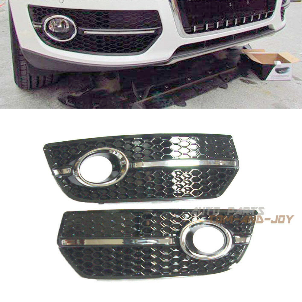 one pair chrome s line sline fog light lamp grille grill. Black Bedroom Furniture Sets. Home Design Ideas
