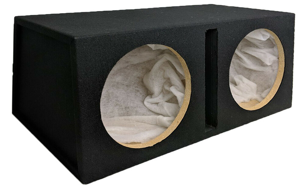 Double 12 custom slot ported box empty mdf enclosure for for L ported sub box design
