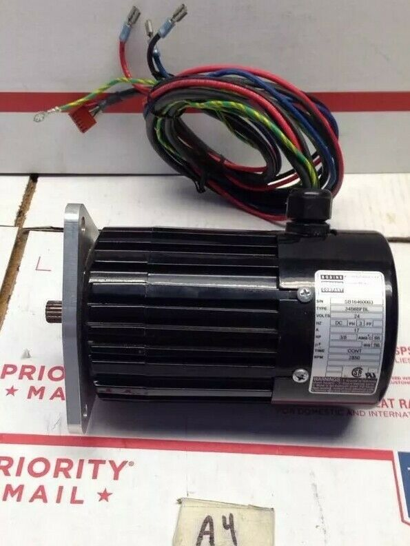 Bodine electric motor type 34b6bfbl 3 8hp 24v 3 phase for Types of electric motors