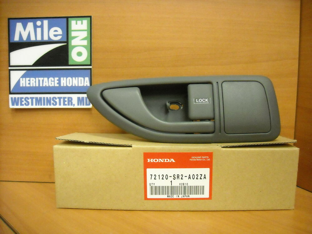Oem Honda Right Inside Door Handle With Cover Fits 1993