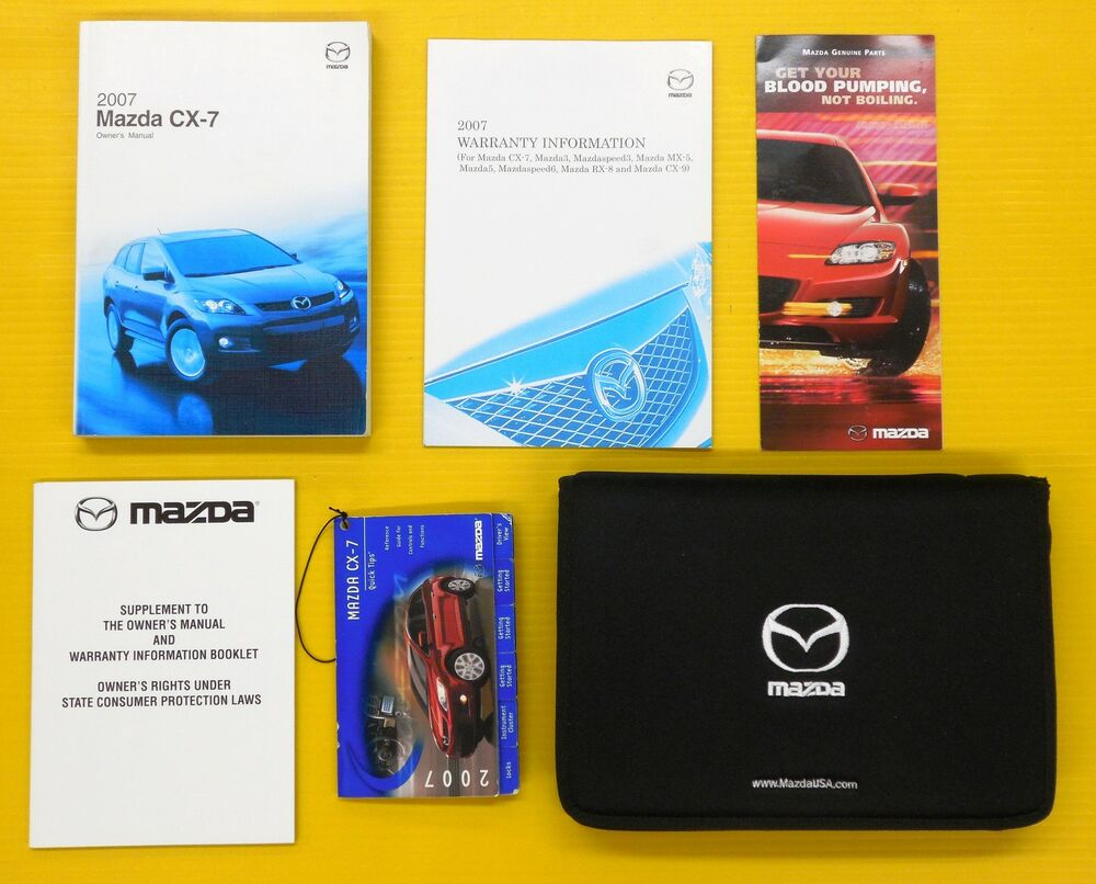 CX-7 CX7 07 2007 Mazda Owners Owner's Manual Set w/ Case All CX 7 SUV  Models | eBay
