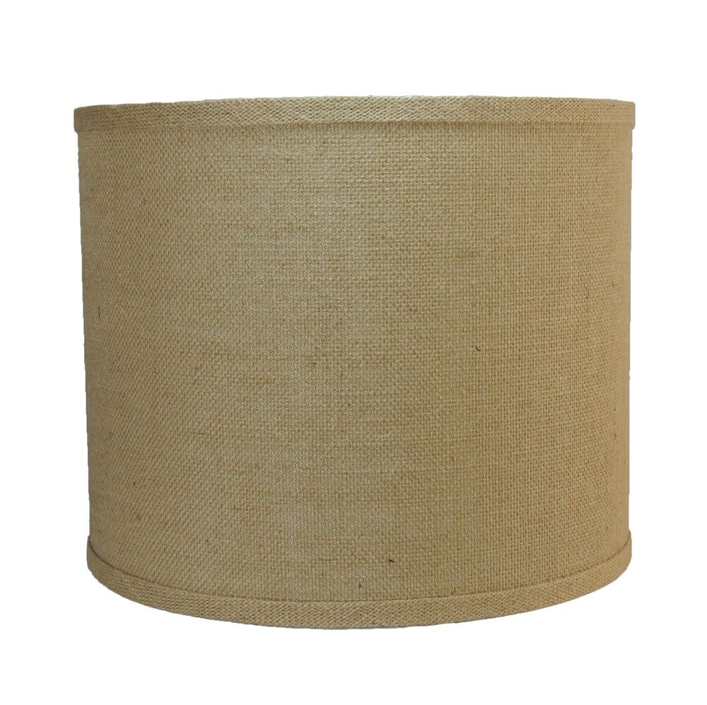 urbanest burlap drum style lamp shade 12 x12 x10. Black Bedroom Furniture Sets. Home Design Ideas