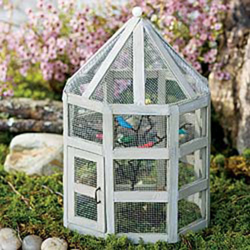 Miniature Dollhouse FAIRY GARDEN ~ Aviary ~ NEW