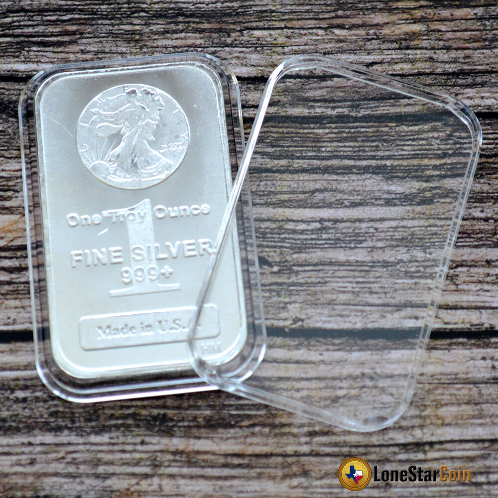 25 air tite direct fit coin holder capsule for 1 oz silver bar ebay. Black Bedroom Furniture Sets. Home Design Ideas