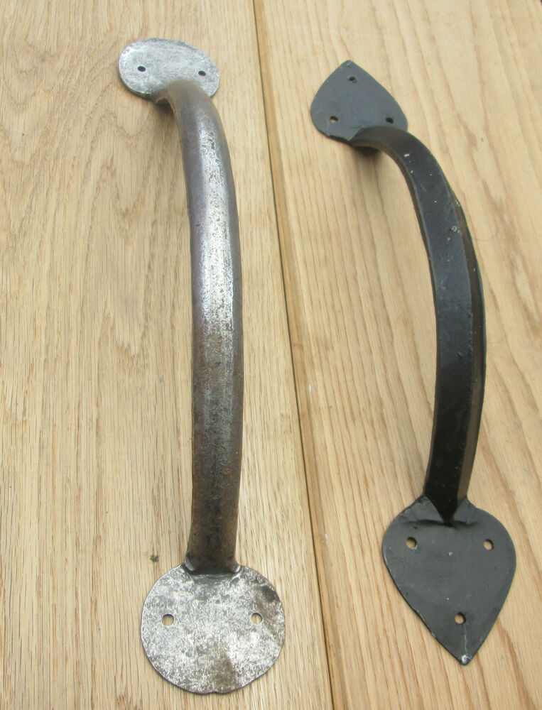 Hand forged blacksmith vintage old large gate barn stable for Door pull handles