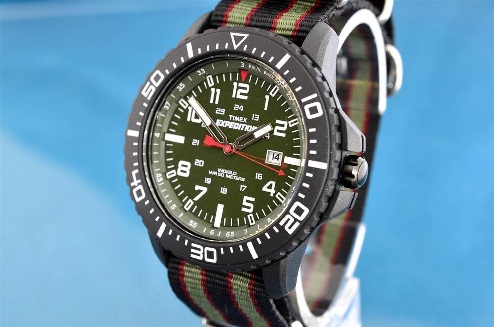 Vintage timex military divers style large lightweight 24 hour indiglo watch ebay for Indiglo watches